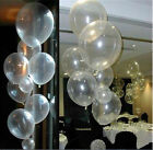 10/50/100 Transparent  Latex Balloons Birthday  Wedding Party Decor 10""