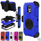 For SAMSUNG Galaxy S5 Outer Box Rugged Hard Case Cover & Belt Clip Holster