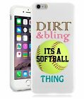 Softball Dirt Bling Teen Gilrs Phone Case for iPhone, iPod,Galaxy, Note