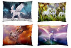Image 2 Side - Unicorn Pegasus Bed Decor Pillowcase Pillow Cover NEW