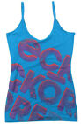 "ECKO ""Red Spaghetti"" womens top vest camisole t shirt (sky blue/purple) NEW"