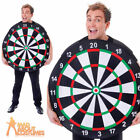 Adult Dart Board Bullseye Target Stag Party Pub Costume Fancy Dress Outfit New