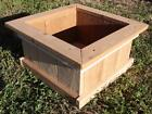 BRAND NEW SOLID CEDAR WOOD GARDEN PLANTER BOX - 18 INCHES SQUARE, 9 INCHES TALL