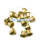 200-500Pcs M2.3-M3.0 Brass Vias Nuts Through Hole Rivets Hollow Grommets