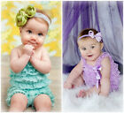 Newborn Infant Baby Girl Lace Posh Petti Ruffle Rompers TUTU with strap 0-3 Year