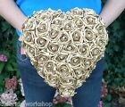 Wedding Flowers Bride Pearl Rose Heart Bouquet Posy Posie Teardrop Shower