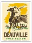 Deauville Polo Normandy France Vintage World Travel Art Poster Print