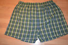 NEW Mens  Boxers INTIMO Green Plaid COTTON/POLYESTER  Large b3
