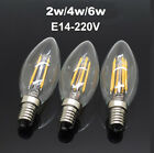 2x Edison E12 E14 Vintage Retro Filament Led Candle Bulb C35 Warm 110V / 220V