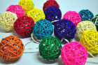 20 , 35 RATTAN BALL STRING PATIO,FAIRY,DECOR,BEDROOM,HOME,GIFT,WEDDING LIGHTS
