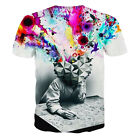 Unisex Fashion The Thinker Printing Abstract 3D Print Cool T-shirt Tops Tees FO