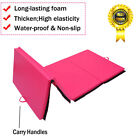 """4' X 8' X 2"""" Tumbling Mat Folding Exercise Gymnastic Gym Stretching  Pearl Wool"""