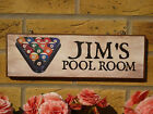 PERSONALISED GAMES ROOM SIGN POOL ROOM SNOOKER ROOM POOL TABLES POOL CUE BALLS £14.8 GBP on eBay