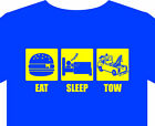 Mens S-5XL T-shirt, tow, eat, recovery, vehicle, truck, funny, gift