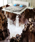 3D Waterfall Peak 1 Floor WallPaper Murals Wall Print Decal 5D AJ WALLPAPER