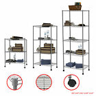 3/4/5 Tier Layer Shelving Unit Steel Wire Metal Rack Adjustable Shelf Storage GY