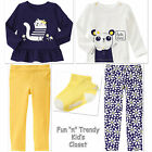 NWT 5-PC SET Gymboree FLOWER SHOWER Girls Size 2T 3T Pants Tee Shirts Tops Socks