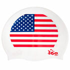 Rio 2016 Olympic Games National Flags Patriotic Silicone Swimming Cap One Size