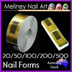 20-500pc Nail Forms Stickers Acrylic Gel Tips Nail Art form extension guide tool