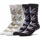 "HUF ""Melange Plantlife"" SP16 Crew Socks Men's Mutli Striped Weed Pot Leaf Sock"