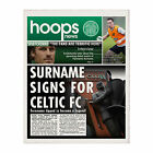 Personalised Celtic FC Official Football Club Newspaper Any Name Gift Idea