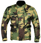 Green Camo Camouflage Cordura Motorbike Motorcycle CE Armoured Waterproof Jacket