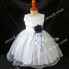 #NLN7 Baby Infant Wedding Confirmation Birthday Party Night Prom Dress Gown