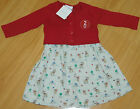 **Next Woodland ** Wald Kleid Set Kleid Strickjacke Baby Hase Reh Gr. 56/62 Neu