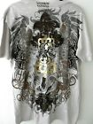 Artistic Differences Graphic Metallic Tshirt Gray Brown & Gold SZ Large NWT