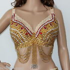 AU 22E Belly Dance Beaded Bra Sequinned Top Sexy Dancing Costume AR08