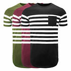 Mens YEEZY STYLE  with Side Zipper Crew Neck Elongated longline t shirt