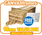 Canvas Frames, Canvas Stretcher Bars, Pine Wooden Bar 18mm - SOLD BY BOX