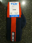 Twin City Knitting Over-Calf Footed Socks Lightning  Navy Red LR8 Small