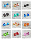 Urban Rainbow Button Small Screw Back Stainless Steel Stud Earrings 11 Colours