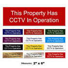 CCTV In Operation Sign Engraved CCTV Gate Door Sign + FREE CHOICE OF COLOURS