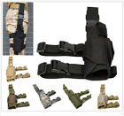 Military Airsoft Tactical Pistol Drop Leg Thigh Gun Holster Bag Pouch Right Hand