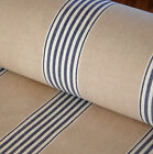 Traditional herringbone bay march stripe linen fabric