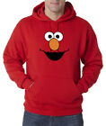 Elmo Face Sesame Street Character Cartoon 50/50 Pullover Hoodie