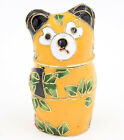 Chinese Handmade Cloisonne Enamel Panda Gift Box Jewelry Storage Box Craft