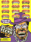 New Bling Bling GRILL GRILLZ FAKE Teeth GOLD SILVER **Child Small Size** Plastic