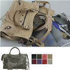 Women Handbag Classic Medium Motorcycle Tote Shoulder Bag Real Lambskin Leather