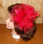 Red Hat Ladies - All Red Fascinator with Comb