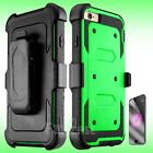 For Apple iPhone 6s Plus Belt Clip Holster Rugged Armor Rubber Hybrid Case Cover