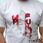 Peru flag - white t shirt top country map design - mens womens kids baby sizes image