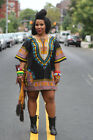 Women Traditional African Shirt Dashiki Print Hippie BOHO DRESS Blouse Tribal