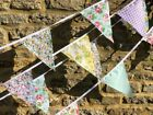 CLEARANCE Fabric Bunting shabby & chic heart garland pink vintage floral Sale