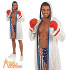 Adult Boxer Costume American Boxing Fancy Dress Outfit New