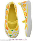 Gymboree NWT Yellow FLORAL DAISY ATHLETIC SLIP ON SNEAKERS DRESS SHOES US 3 4 8
