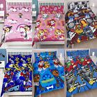 Official Licensed Character Double Duvet Cover Bed Set KIDS BOYS GIRLS Gift