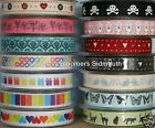 Berisfords Ribbon ~ Butterflies Cats Hearts Stars Stripes etc ~ Assorted Colours